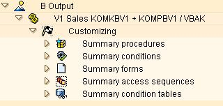 SAP Customizing. Tree control summary to the customizing sections